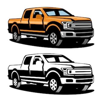 Pick up truck, illustrazione del camion