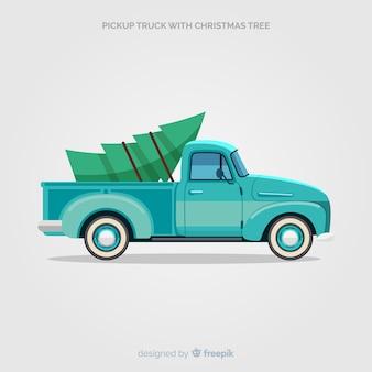 Prendi il camion con l'albero di natale