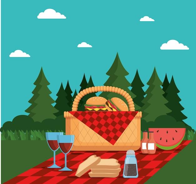 Poster di picnic party