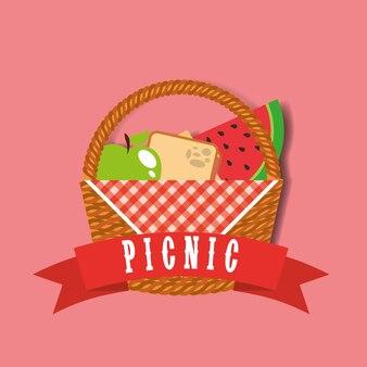 Cestino di vimini da picnic