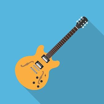 Foto di chitarra elettrica, illustrazione di stile