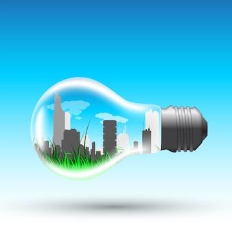 Immagine di una lampadina con interni moderni e grandi,
