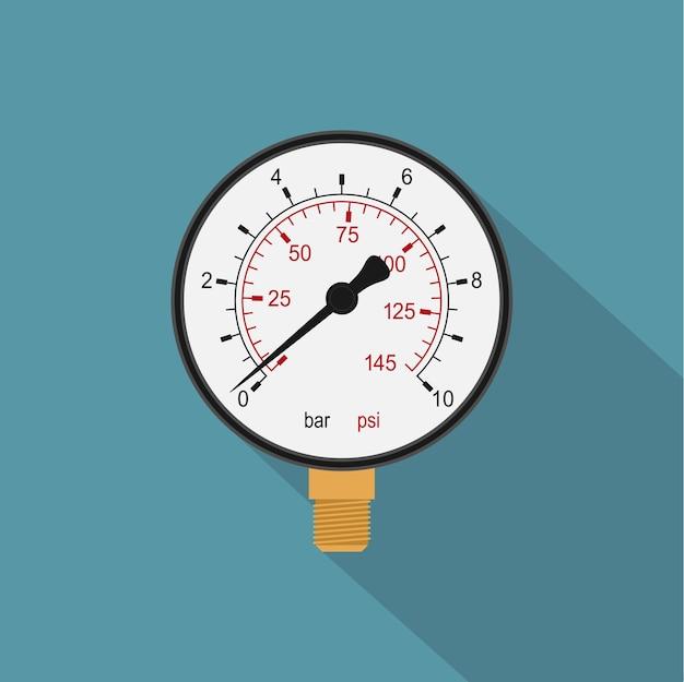 Immagine di un manometro, icona di stile