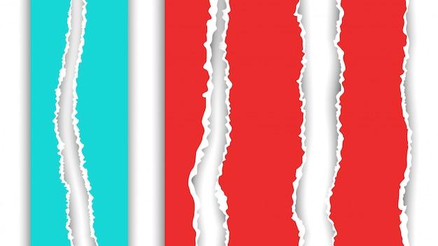 Immagine di carta strappata