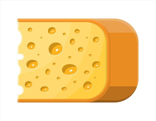 Pezzo di formaggio illustrazione isolato