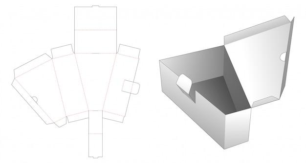 Pezzo pieghevole triangolare scatola fustellata modello