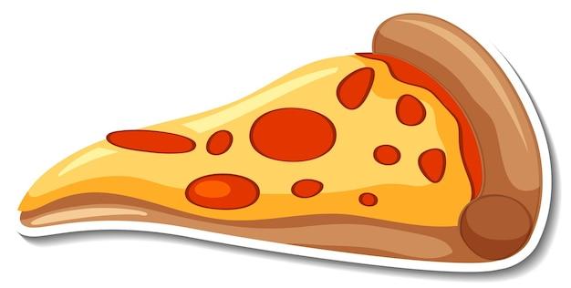 Un pezzo di adesivo pizza italiana su sfondo bianco