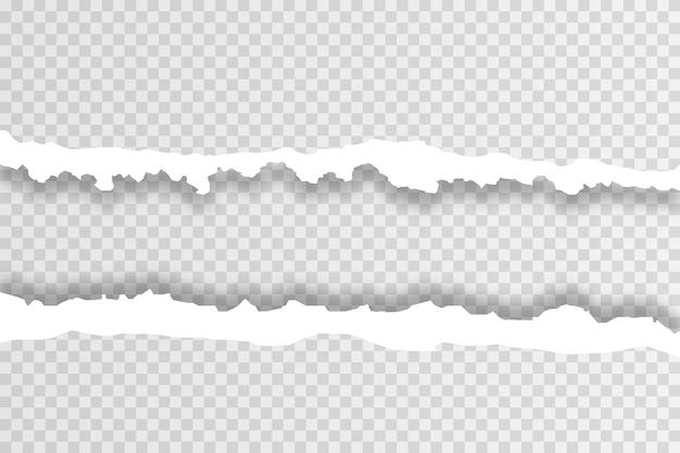 Pezzi di sfondo di carta strappata