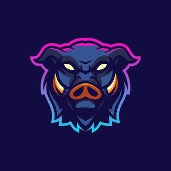 Design del logo di maiale