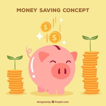 Piggy bank sfondo felice salvadanaio