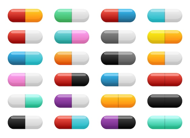 Pillola tablet disegno vettoriale illustrazione isolato su sfondo bianco