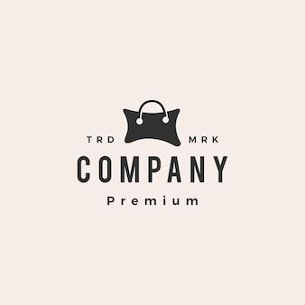 Cuscino negozio shopping bag hipster logo vintage