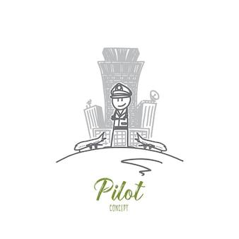 Illustrazione del concetto di pilota