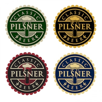 Logo della birra pilsner