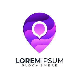 Logo chat pin