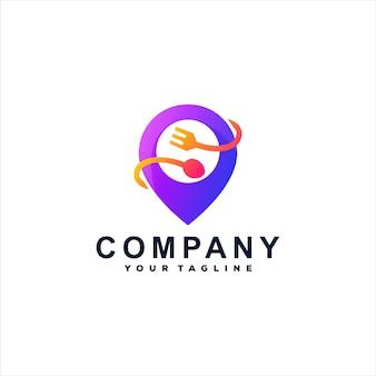Design del logo con sfumatura alimentare a spillo