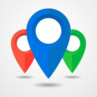 Perno sull'icona della mappa isolato su bianco