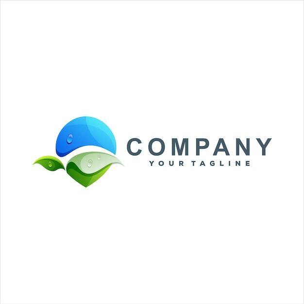 Pin natura gradiente logo design