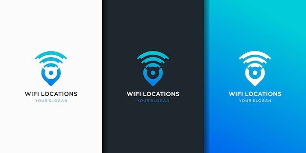 Pin wifi icona logo design