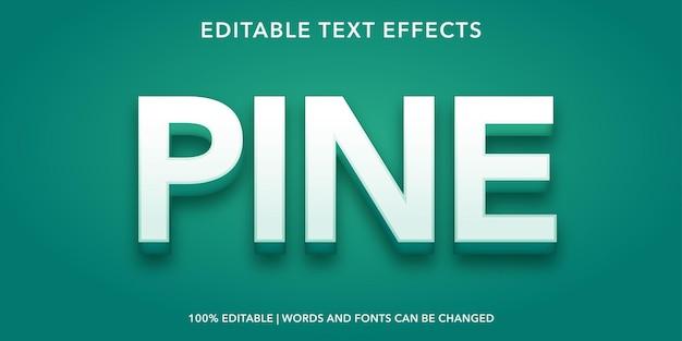 Effetto di testo modificabile pino