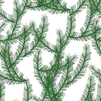 Rami di pino ramoscelli di abete stampa natalizia