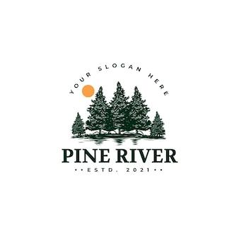 Logo dell'albero di pino