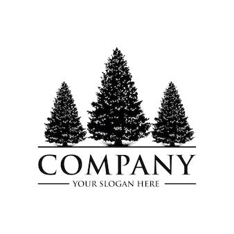 Logo di alberi di pino