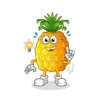 L'ananas ha avuto un'idea dell'illustrazione