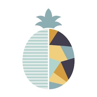 Illustrazione di ananas in stile moderno geometrico