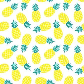 Reticolo senza giunte di ananas stampa tessile tropicale colorata estiva.