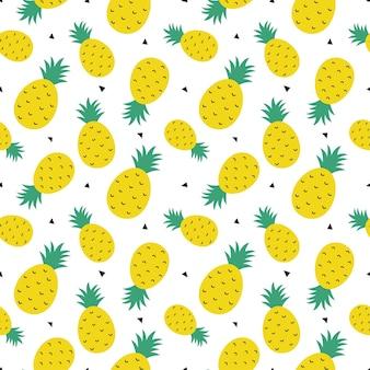 Modello senza cuciture di ananas estate frutta estiva