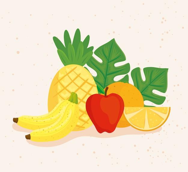 Ananas e frutta fresca tropicale