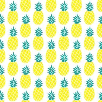 Fondo di vettore dell'ananas / modello senza cuciture dell'ananas / modello del tessuto dell'ananas. priorità bassa di ripetizione isolata dell'ananas / stampa variopinta della tessile dell'ananas di estate / priorità bassa dell'ananas per scrapbooking.