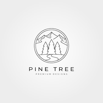Pini avventura all'aria aperta logo design