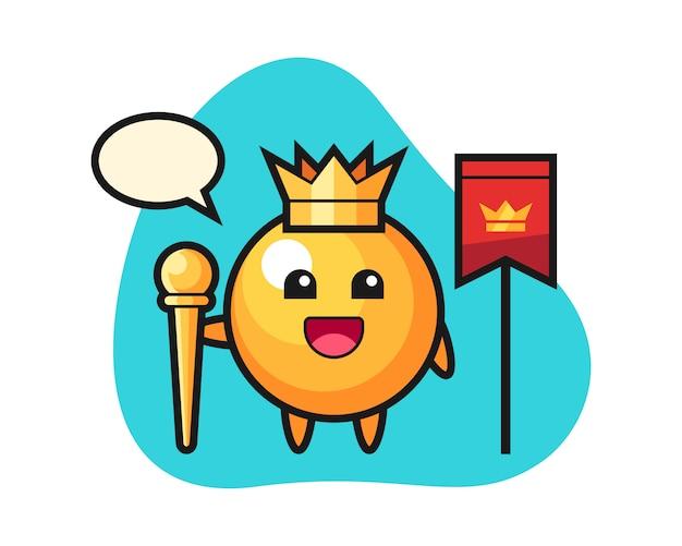 Fumetto della palla da ping-pong come re