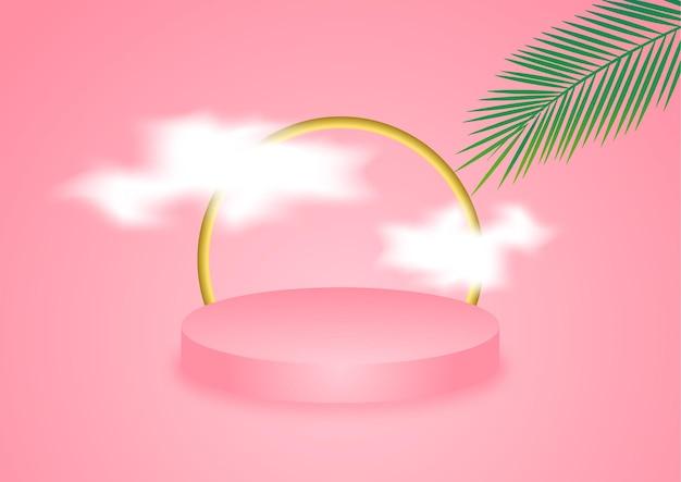Podio 3d rosa per il product placement
