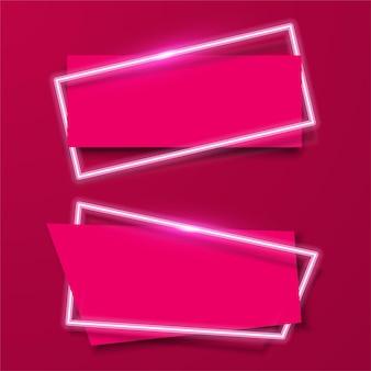 Disegno astratto rosa banner