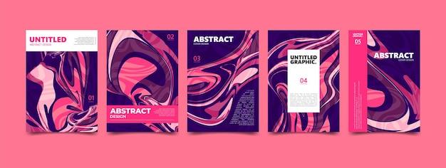 Struttura fluida astratta rosa. poster di copertina moderna