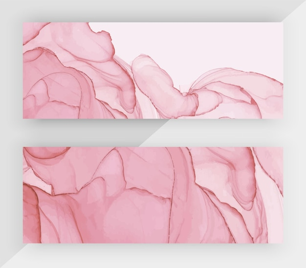 Bandiere orizzontali di struttura dell'inchiostro rosa dell'alcool.