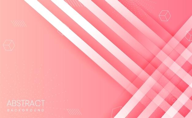 Sfondo rosa con forme astratte e gradiente
