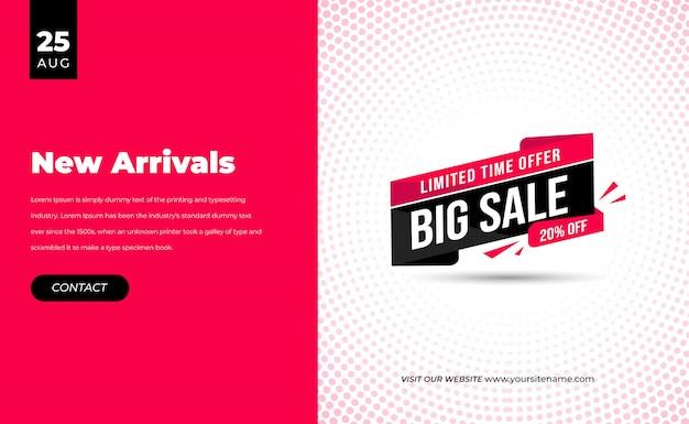 Pink big mega sale speciale offerta limitata nel tempo banner di sconto per la mega vendita di arrivo