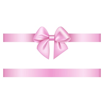 Fiocco rosa e nastro
