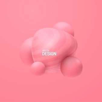 Cluster di bolle rosa