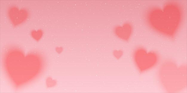 Rosa a caccia di sfondo spazio pieno di cuori amore e stelle