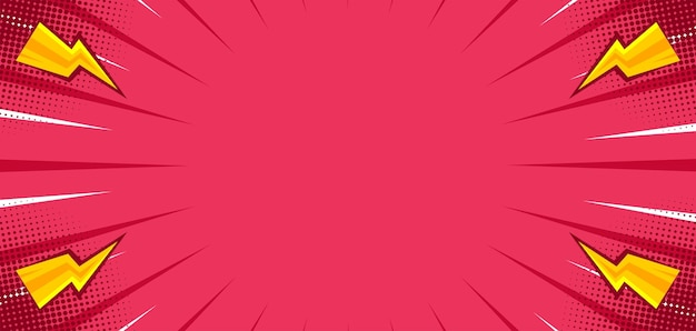 Sfondo rosa comico con flash di tuono