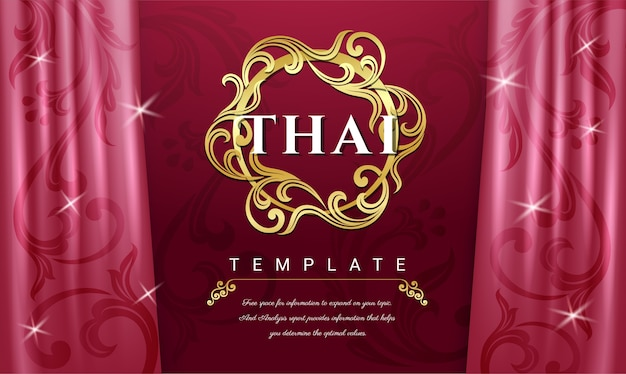 Sfondo di tende rosa, concetto tradizionale tailandese.