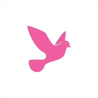 Logo colomba rosa semplice moderno