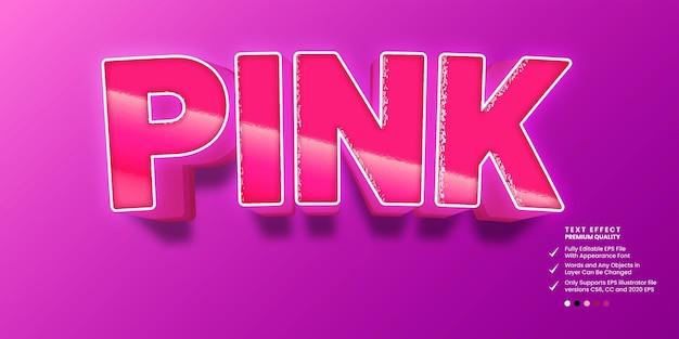 Effetto di testo modificabile rosa