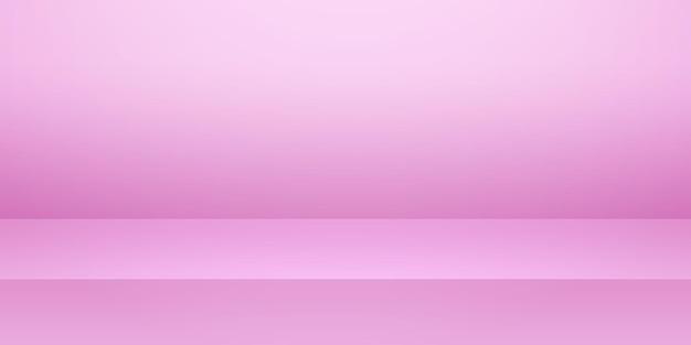 Stanza studio vuota rosa, sfondo del prodotto, modello mock up per la visualizzazione