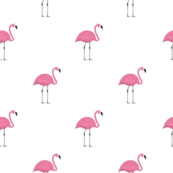 Pink flamingo seamless pattern di sfondo. illustrazione